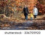 two generation family walking... | Shutterstock . vector #336705920