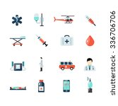 emergency paramedic icons set...   Shutterstock .eps vector #336706706