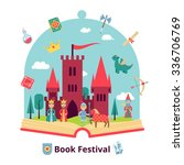 fairytale concept with open... | Shutterstock .eps vector #336706769