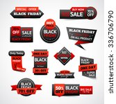 black friday sale and discounts ... | Shutterstock .eps vector #336706790