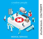 flat 3d isometric medical... | Shutterstock .eps vector #336708899