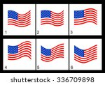 animation of the american flag... | Shutterstock .eps vector #336709898