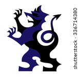 vector stylized rampant griffin ... | Shutterstock .eps vector #336714380