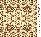 eastern ornament  seamless... | Shutterstock .eps vector #336718310