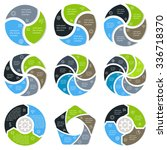 big set of spiral infographic...   Shutterstock .eps vector #336718370