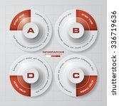 simple editable 4 steps chart... | Shutterstock .eps vector #336719636
