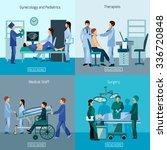 medical professional 4 flat... | Shutterstock .eps vector #336720848