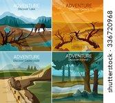 wild nature landscapes 4 flat... | Shutterstock .eps vector #336720968