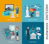museum design concept set with... | Shutterstock .eps vector #336721064