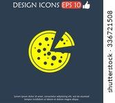 pizza web icon. flat design... | Shutterstock .eps vector #336721508