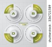 simple editable 4 steps chart... | Shutterstock .eps vector #336721589