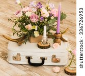 wedding event decoration ...   Shutterstock . vector #336726953