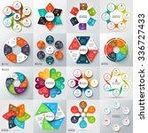 big set of vector arrows ... | Shutterstock .eps vector #336727433