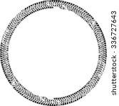 tire track vector round border... | Shutterstock .eps vector #336727643