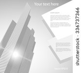skyscrapers background grey | Shutterstock .eps vector #336737366