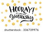 giveaway banner for social... | Shutterstock .eps vector #336739976