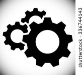 gears  gear wheels  cog wheels... | Shutterstock .eps vector #336744143
