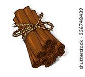 Vector Illustration Of Cinnamo...