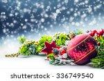 Christmas Card With Ball Fir...