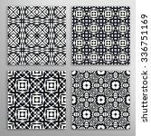 black and white seamless... | Shutterstock .eps vector #336751169