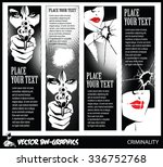 black and white vector banner....