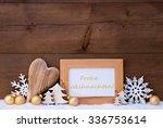 golden christmas decoration on...   Shutterstock . vector #336753614
