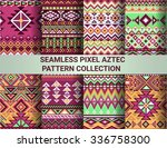 collection of bright seamless... | Shutterstock .eps vector #336758300