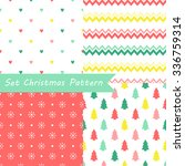 set of seamless christmas... | Shutterstock .eps vector #336759314