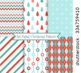 set of seamless christmas... | Shutterstock .eps vector #336759410