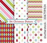set of seamless christmas... | Shutterstock .eps vector #336759524
