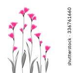 vector illustration of flowers... | Shutterstock .eps vector #336761660