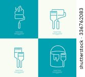 icon set with brush  roller ... | Shutterstock .eps vector #336762083