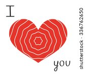 greeting card red heart  hand... | Shutterstock .eps vector #336762650