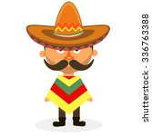 mexican hat  sombrero  mexican... | Shutterstock .eps vector #336763388