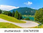 scenic mountain road along... | Shutterstock . vector #336769358