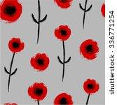 red poppies. vector... | Shutterstock .eps vector #336771254