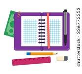 open spiral binder notebook... | Shutterstock .eps vector #336772253