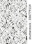 monstera leaves seamless pattern | Shutterstock .eps vector #336779114
