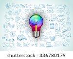 idea concept with light bulb...   Shutterstock .eps vector #336780179