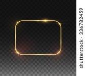 vector golden frame. shining...   Shutterstock .eps vector #336782459