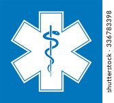 medical symbol of the emergency ... | Shutterstock .eps vector #336783398
