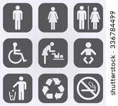 people icon set . toilet... | Shutterstock .eps vector #336784499