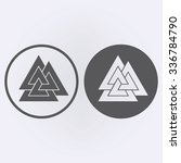 valknut symbol set in circle .... | Shutterstock .eps vector #336784790