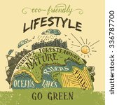 eco friendly lifestyle concept. ...   Shutterstock .eps vector #336787700