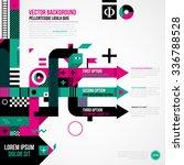 abstract arrows in weird... | Shutterstock .eps vector #336788528