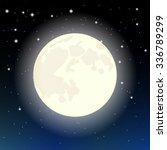 the moon in the starry sky | Shutterstock .eps vector #336789299