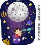 illustration of a little boy in ... | Shutterstock .eps vector #336806846