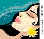 raster young beautiful girl... | Shutterstock . vector #33681202