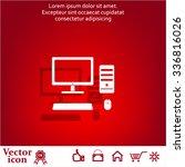 the computer icon. pc symbol.  | Shutterstock .eps vector #336816026