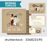 cute groom and bride character... | Shutterstock .eps vector #336823190